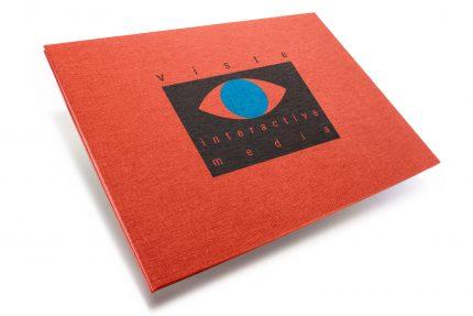A3 Lnd Hh Red Peach Visual Interactive Media Spot Print