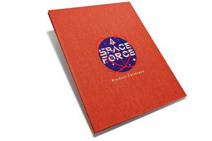 A3 Prt Hh Red Peach Space Force Spot Print