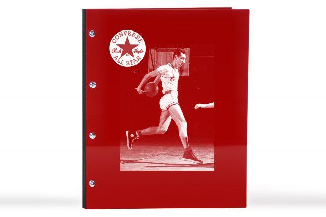 Spot Digital Print on Red Acrylic Portfolio