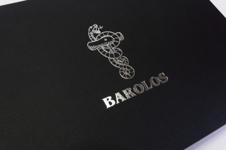 Bn A3 Lnd 20 Blk Barolos Silver Foil Oversize Block Logo