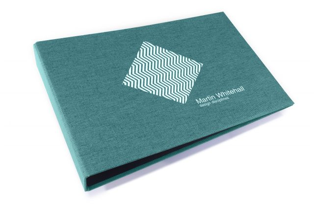 Spot Digital Print on Aqua Cloth Ring Binder
