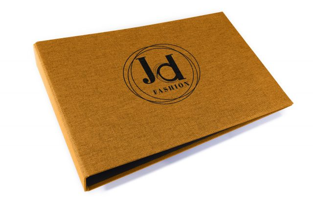 Spot Digital Print on Golden Tan Cloth Ring Binder