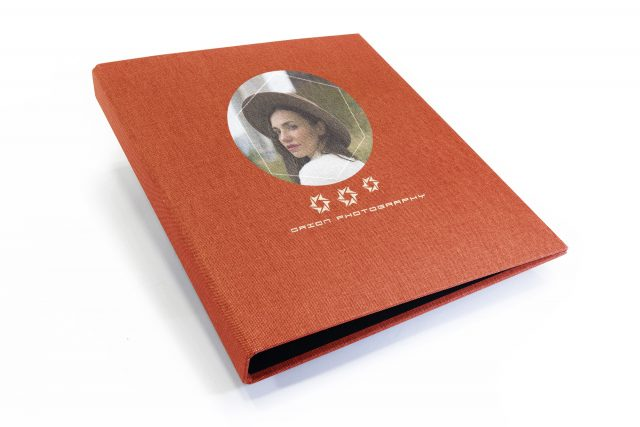 Spot Digital Print on Red Peach Cloth Binder