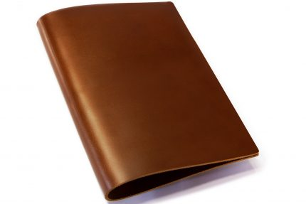 Dark Tan Leather Binder