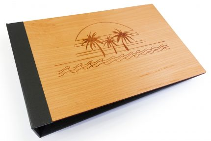 Laser Etching on Timber Binder with Black Back Cover