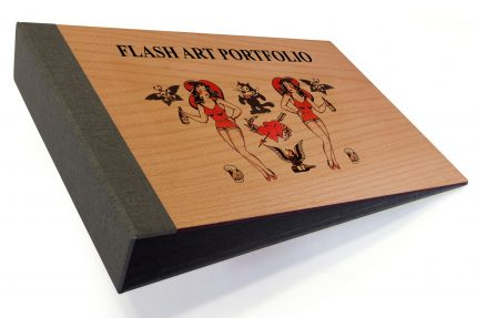 Spot Digital Print on Timber Binder with Dark Grey Back Cover