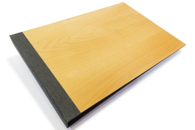 Timber Binder with Dark Grey Back Cover