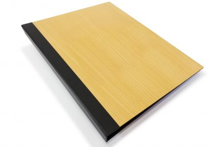 Timber Binder with Black Back Cover