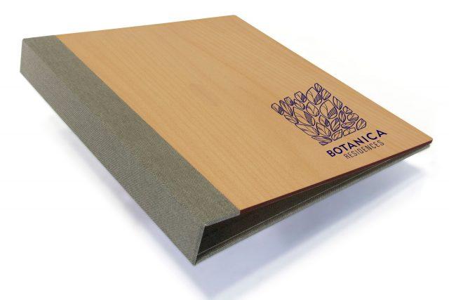 Spot Digital Print on Timber Binder with Light Grey Back Cover