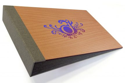 Spot Digital Print on Timber Binder with Light Grey Back Cover