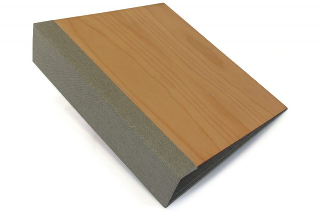 Timber Binder with Light Grey Back Cover