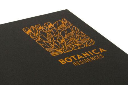 Bronze Foil on Black Cloth