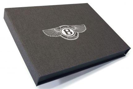 Spot Digital Print on Dark Grey Cloth Presentation Box