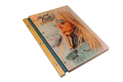 Spot Digital Print on Timber & Leather Portfolio