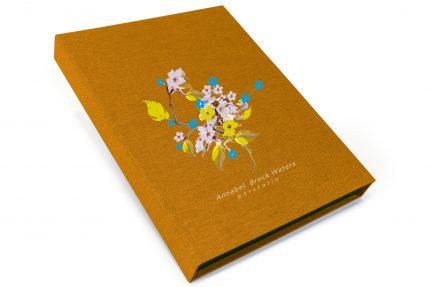 Spot Digital Print on Golden Tan Cloth Presentation Box