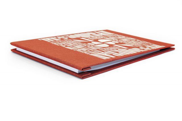 Spot Digital Print on Red Peach Cloth Screwpost Portfolio