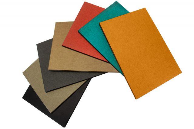 Cloth Screwpost Portfolio available Colours: Black - Light Grey - Dark Grey - Light Brown - Red Peach - Aqua - Golden Tan