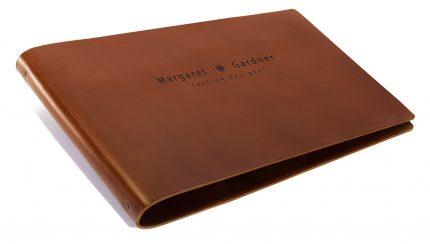 Blind Deboss on Leather Portfolio Binder