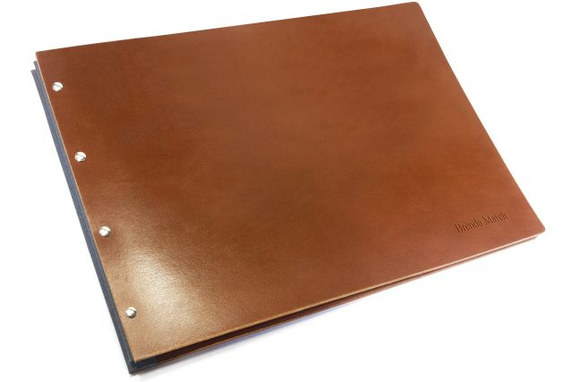 Blind Letterpress on Leather Portfolio Covers