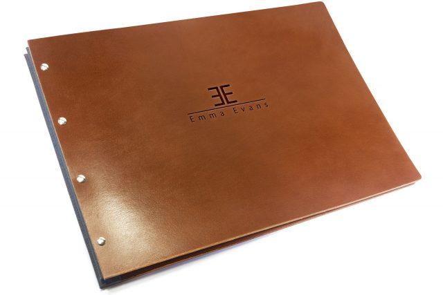 Blind Debossing on Leather Portfolio