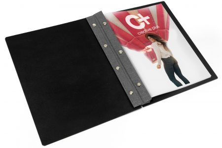 "Leather 8.5"" x 11"" Portrait Portfolio Creative Plus"