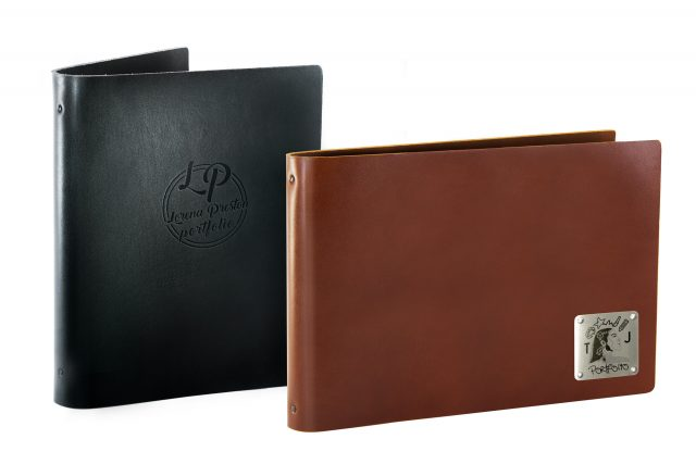 Leather Binders Available in Portrait and Landscape