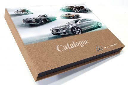 Spot Digital Print on Light Brown Cloth Presentation Box