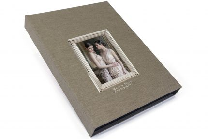 Spot Digital Print on Light Grey Cloth Presentation Box