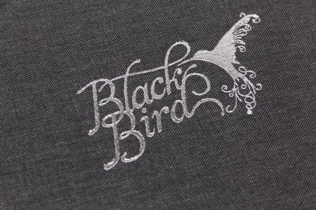 Pb Tre A3 Lnd 30 Dg Black Bird Silver Foil Cloth Logo 1
