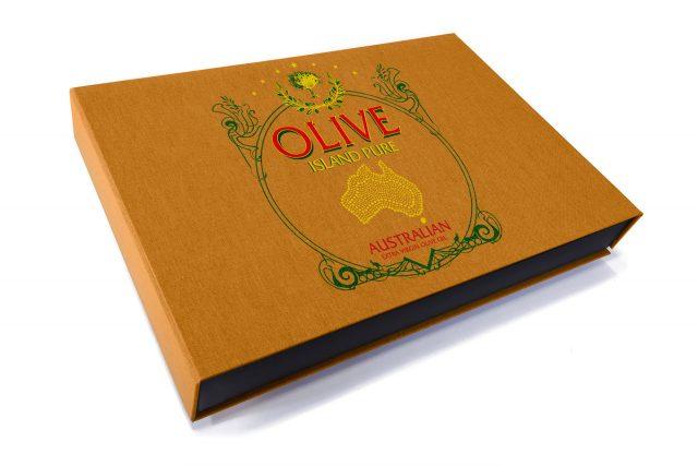 Spot Digital Print on Golden Tan cloth 3 Sided Presentation Box