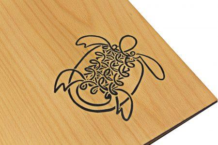 Pf Tm A4 Prt Lgbh Turtle Black Foil Logo