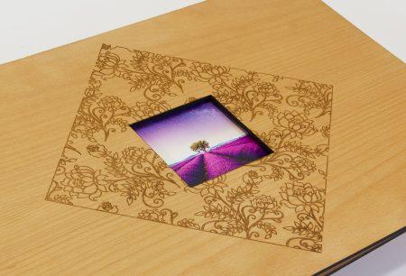 Tm Pf A3 Lnd Blk Bh Floral Pattern Laser Etch & Cut Fcp Front