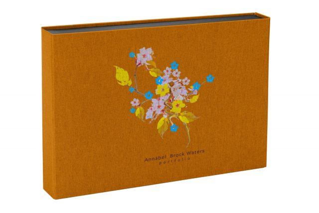 Spot Digital Print on Golden Tan 3 Sided Presentation Box