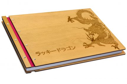 Laser Etching on Timber & Leather Portfolio - Leather Hinge Colour: Fuchsia
