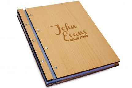 Laser Etching on Timber & Leather Portfolio - Leather Hinge Colour: Lead