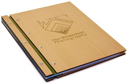 Laser Etching on Timber & Leather Portfolio - Leather Hinge Colour: Khaki