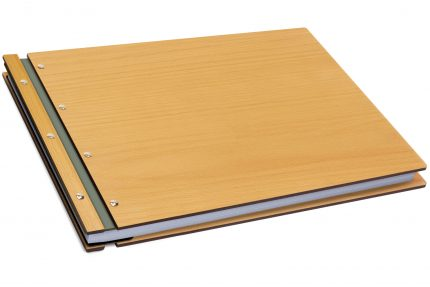 Timber & Leather Portfolio - Leather Hinge Colour: Lead