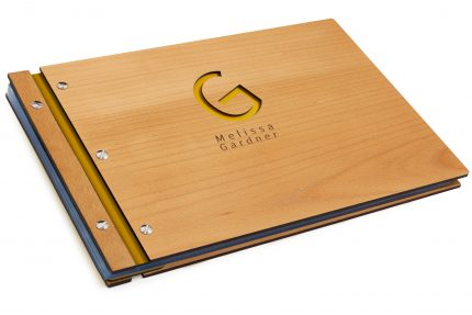 Laser Etching & Cutting on Timber & Leather Portfolio - Leather Hinge Colour: Yellow