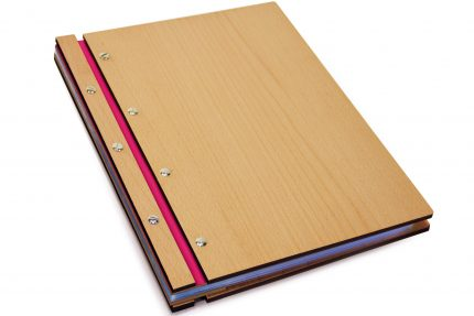 Timber & Leather Portfolio - Leather Hinge Colour: Fuchsia