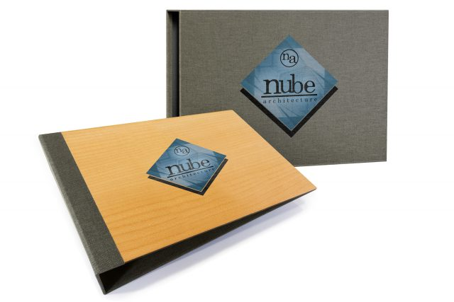 Spot Digital Print on Timber Binder and Cloth Slipcase