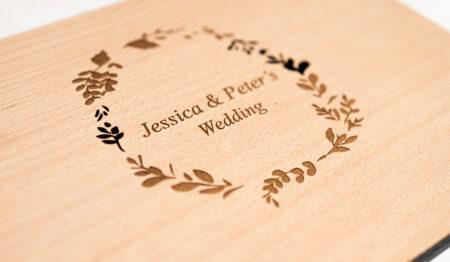 Timber Wedding Album Book Cover